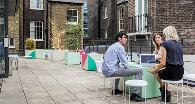 Serviced offices in London with outside space